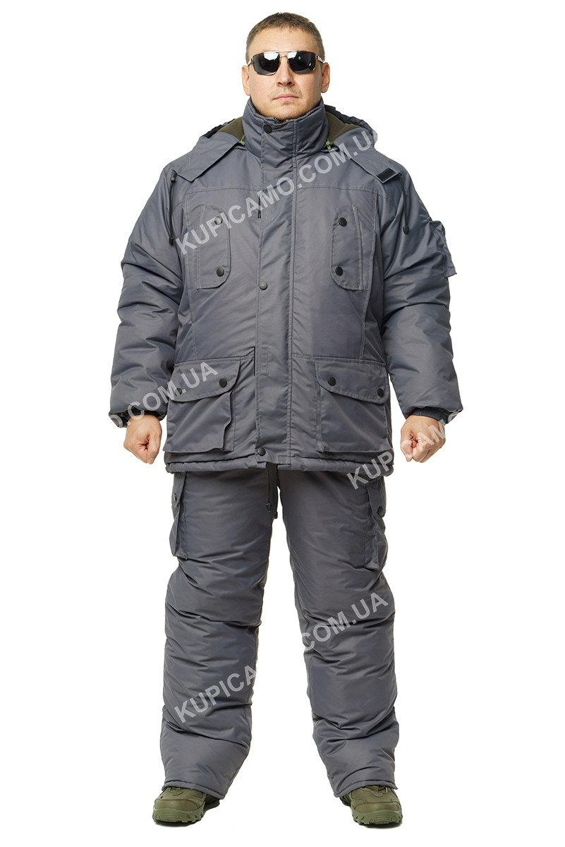 """Зимовий костюм для рибалок і мисливців """"Таслан"""" -30 """"Сірий"""""""