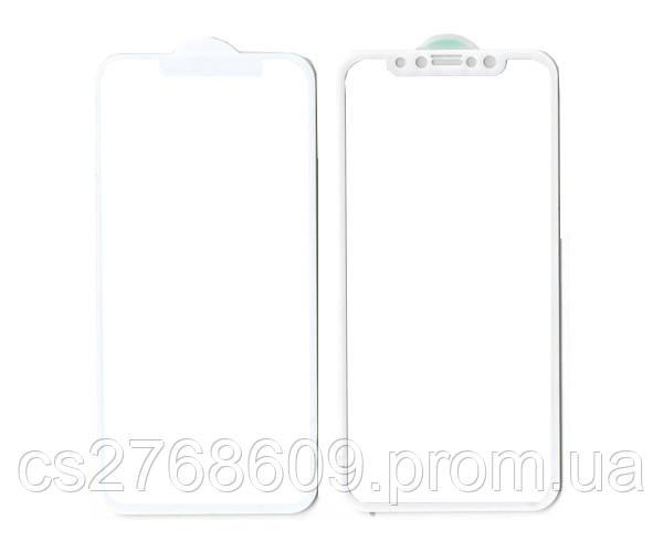 """Защитное стекло / Захисне скло iPhone X, iPhone XS 5.8,iPhone 11 Pro"""" білий 6D Full"""