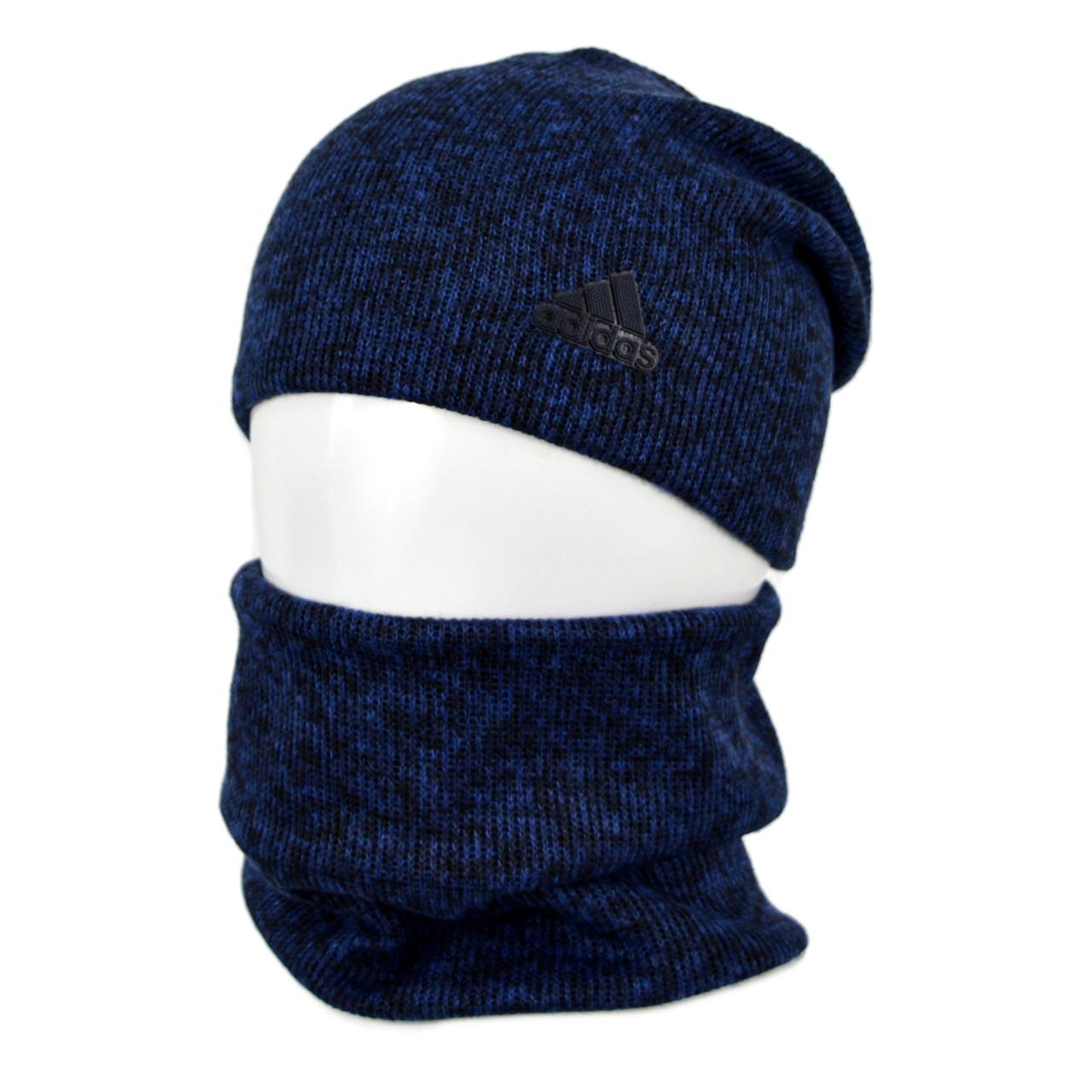 Комплект шапка+баф adidas SP1901 синий