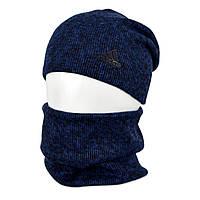 Комплект шапка+баф adidas SP1901 синий, фото 1