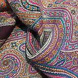 Драгоценная 1292-7, павлопосадский платок (шаль) из уплотненной шерсти с шелковой вязанной бахромой, фото 6