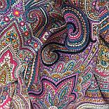 Драгоценная 1292-7, павлопосадский платок (шаль) из уплотненной шерсти с шелковой вязанной бахромой, фото 7
