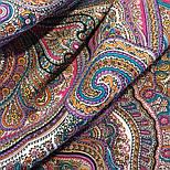 Драгоценная 1292-7, павлопосадский платок (шаль) из уплотненной шерсти с шелковой вязанной бахромой, фото 9