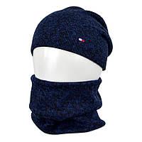 Комплект шапка+баф tomy SP1902 синий, фото 1