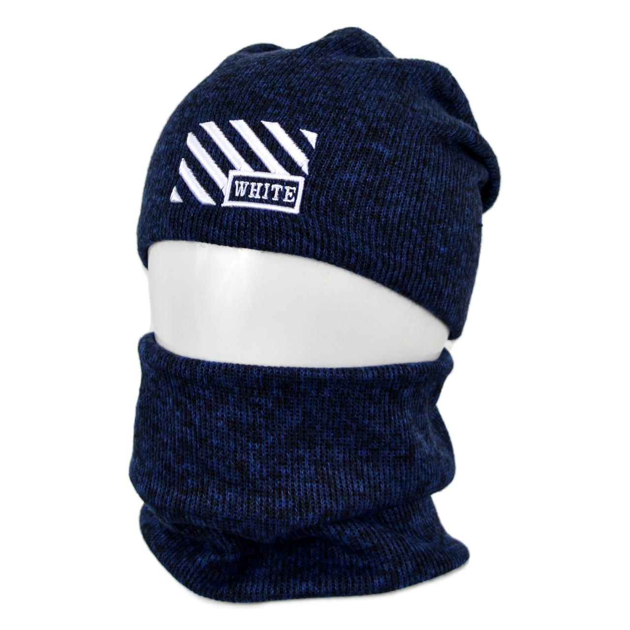 Комплект шапка+баф Off-White оптом