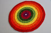Ковер радуга из войлочных шариков, разноцветный ковер в детскую