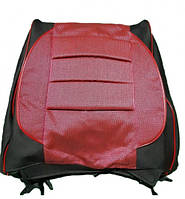 Авточехлы Пилот Pilot ВАЗ 2101 2102 2105 ткань черная и красная, фото 1