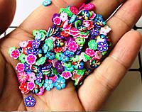 Декор Фимо для дизайна ногтей, 100шт. Цветы.