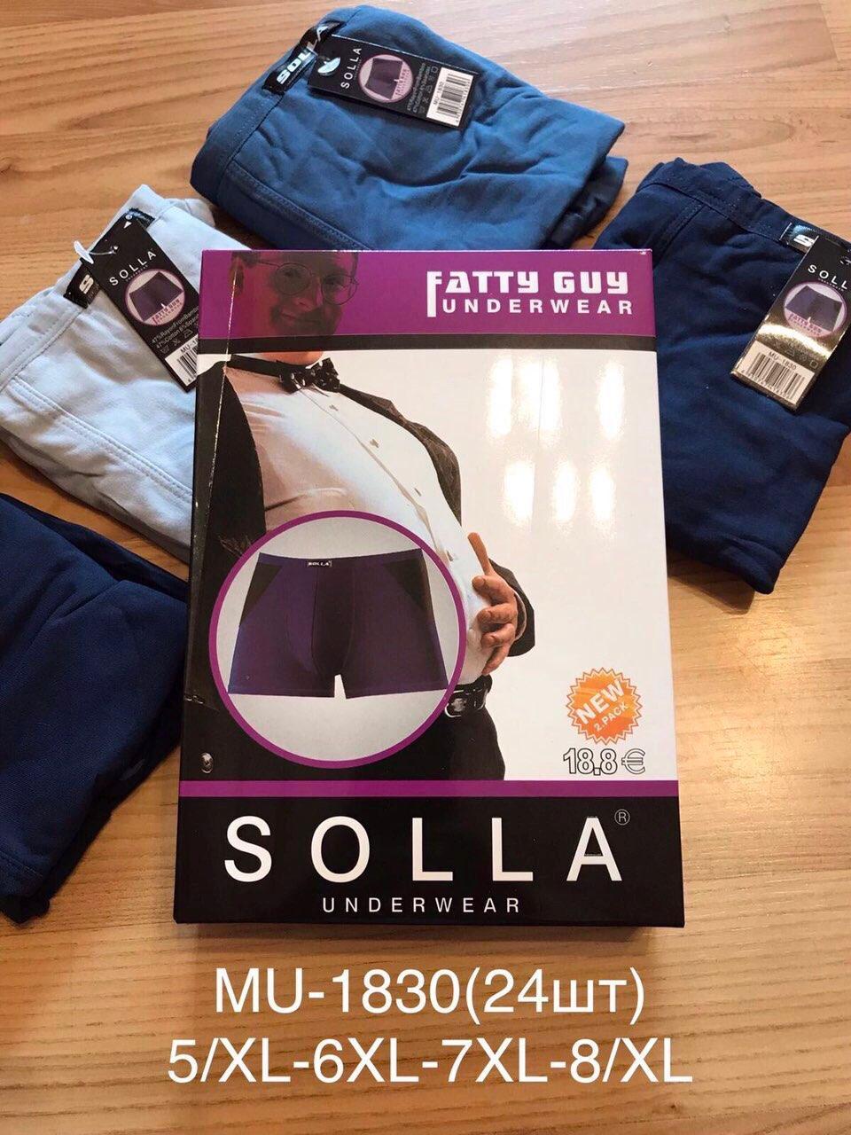Трусы мужские хлопковые Solla батал размер 5XL-8XL (от 24 шт)