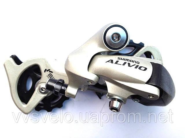 Переключатель задний Shimano Alivio, RD-M410, SGS, мат. серебр.