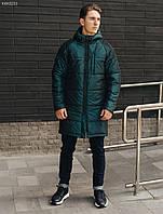 Куртка мужская зимняя удлиненная Staff north green-blue