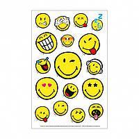 Наклейки детские Herlitz Smiley World 3 листа 8х12,5см 50001996