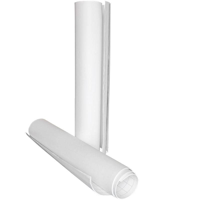 Блок бумаги для флипчартов 10 листов 64х90 см нелинованный, Axent, 8092-A, 37145