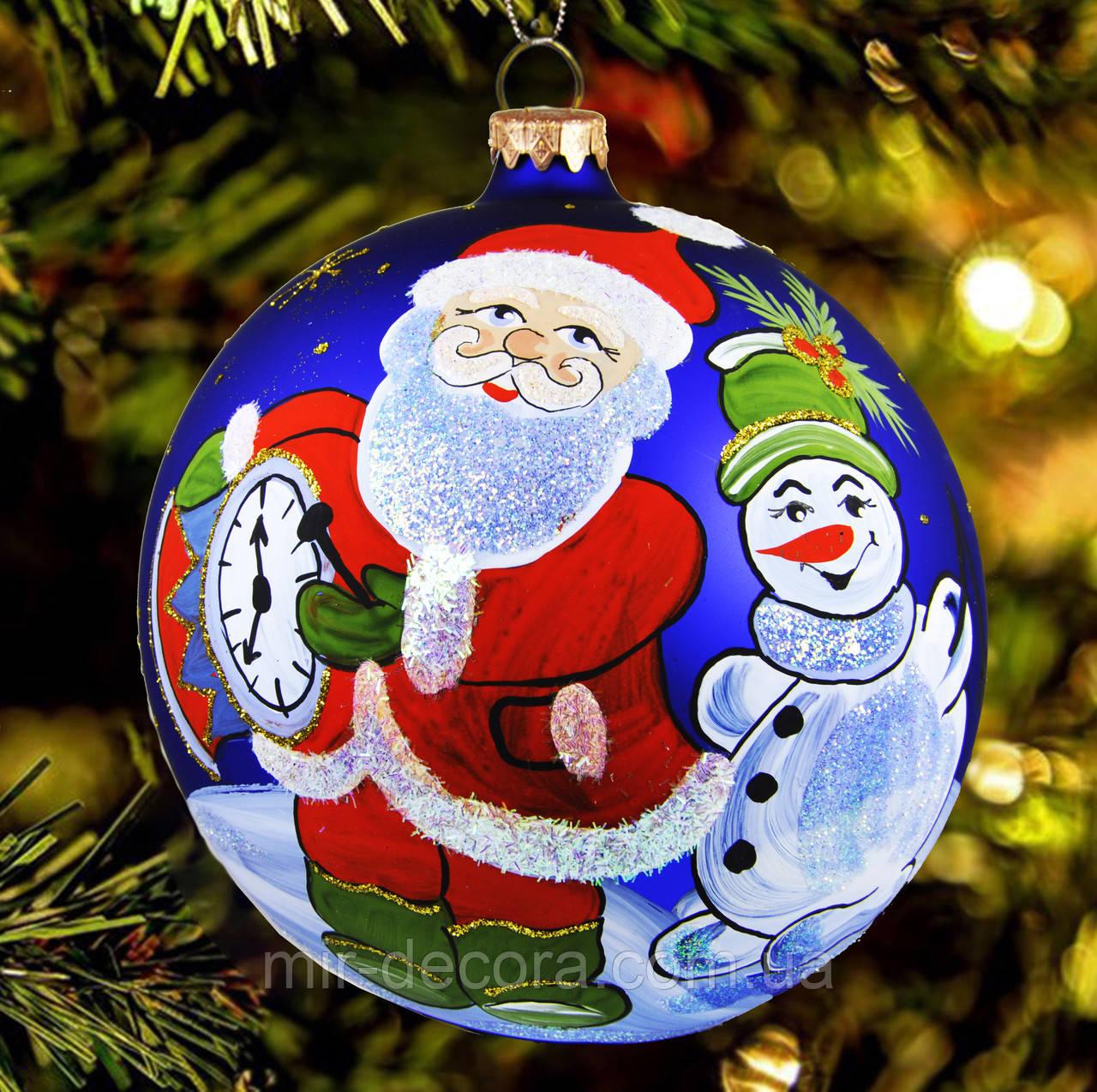 "Большой шар на елку ""Дед Мороз"" 150 мм"