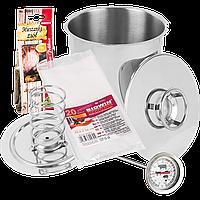 Ветчинница ВIOWIN  на 3 кг мяса (  термометр, пакеты, специи)