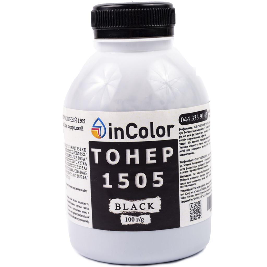 Тонер inColor для Canon i-SENSYS LBP 6200d 726 100 г Чорний (lQdg49471)