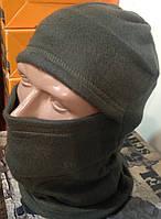 Балаклавы флисовые на осень - зиму, теплые, Хаки, код : 904.