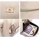 Рюкзак женский набор с кошельком большой бежевый., фото 5