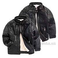 Куртка зимняя для мальчика Likarulla 5854 черная 122 (6-7 лет)