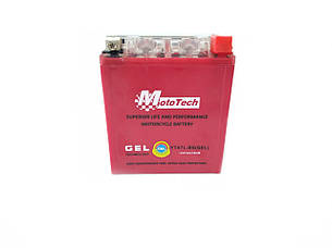 Аккумулятор 7A 12V (YTX7A-BS) MOTOTECH гелевий ВИСОКИЙ 110x67x132, фото 2