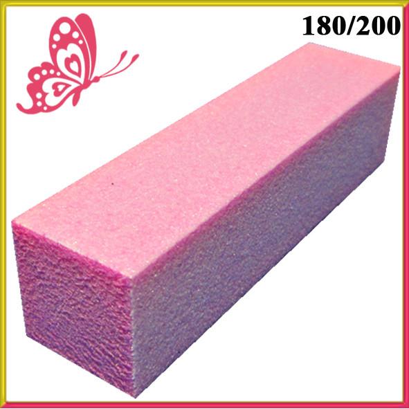 Бафик Розовый для Шлифовки на Пенообразной Основе для Гель-Лаков