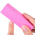 Бафик Розовый для Шлифовки на Пенообразной Основе для Гель-Лаков, фото 4
