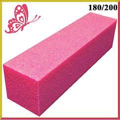 Баф для Ногтей Тёмно Розовый на Пенообразной Основе для Гель-Лаков и Шлифовки, Бафы, Баф Маникюрный, Ногти
