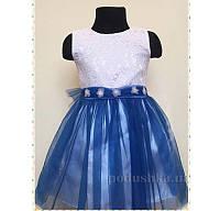 Нарядное платье для девочки Деньчик 7053 110