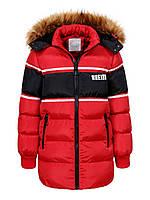 Куртка зимняя на мальчика удлиненная детская подростковая Glo-story рост 152-170