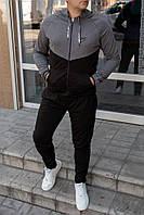 Двухцветный мужской спортивный костюм Nike с капюшоном
