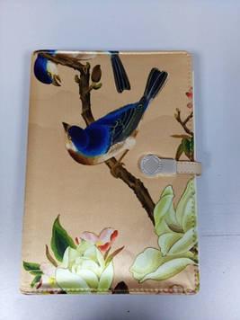 Блокнот ежедневник со встроенным POWER BANK 16 gb флешка принт птички