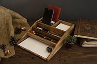 Офисный аксессуар с персонализацией для канцелярии, Подставка для ручек карандашей бумаги визиток смартфона
