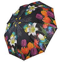 Женский зонт полуавтомат Складной цветочный принт Разноцветный Susino