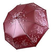 Зонт-полуавтомат складной с напылением Бордовый Lantana