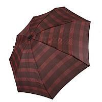 Компактный механический складной зонт в клеточку Бордовый Swifts