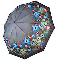 Зонт полуавтомат Susino цветочный принт Разноцветный складной