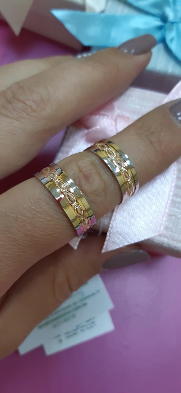 Золотые обручальные кольца 585 пробы.