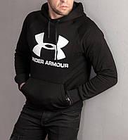 Мужская теплая толстовка Under Armour черного цвета