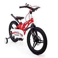 """Детский велосипед Mars 16"""" красного цвета со съемными колесами"""