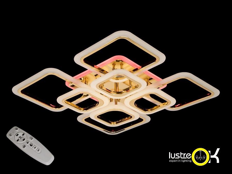 Люстра светодиодная квадратная А8060/4+4 GLED Dimmer