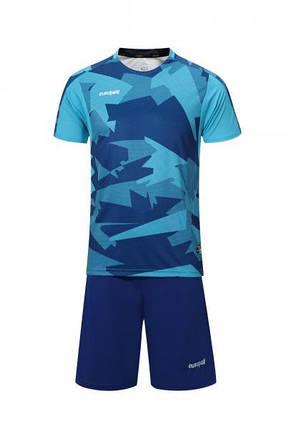 Футбольная форма Europaw 022 сине-голубая, фото 2