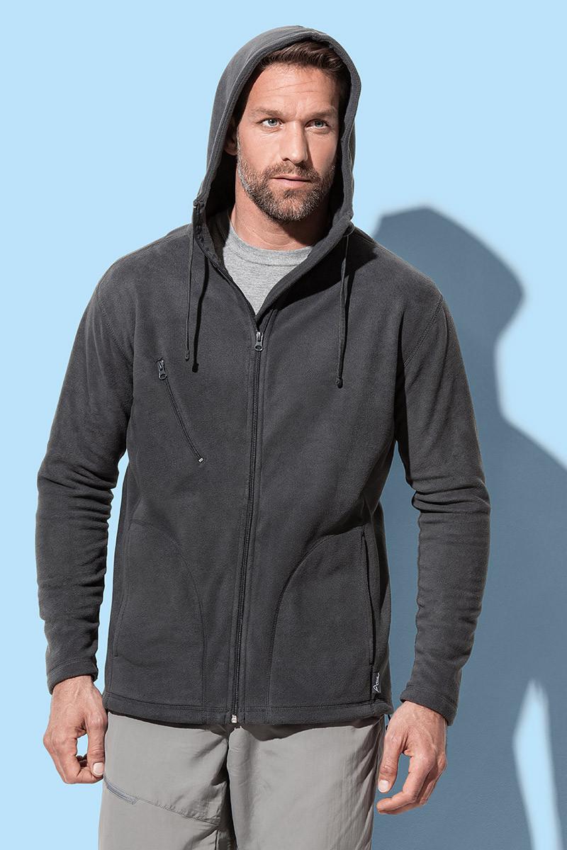 Куртка чоловіча флісова з капюшоном