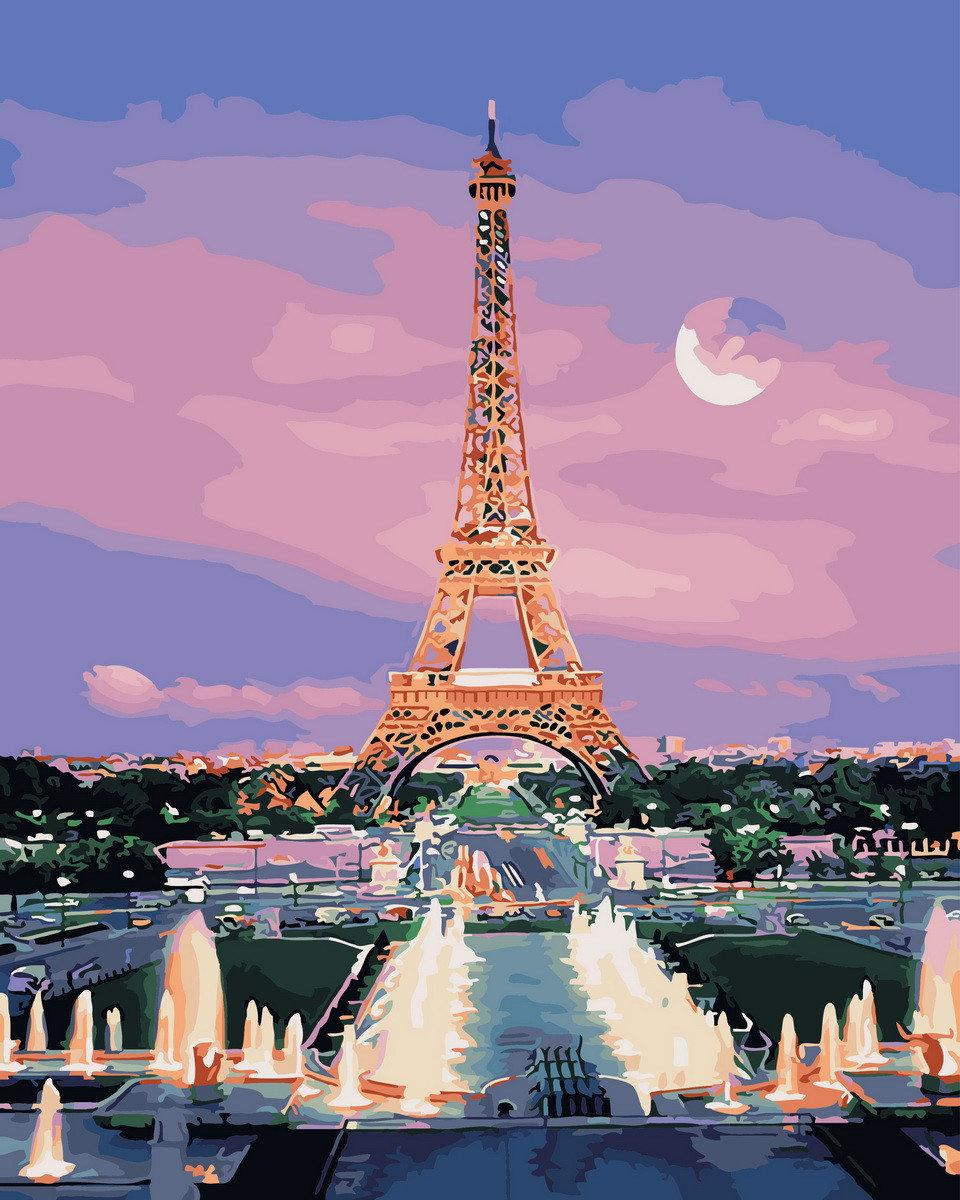 Картина по номерам Парижский закат BK-GX29484 Rainbow Art 40 х 50 см (без коробки)