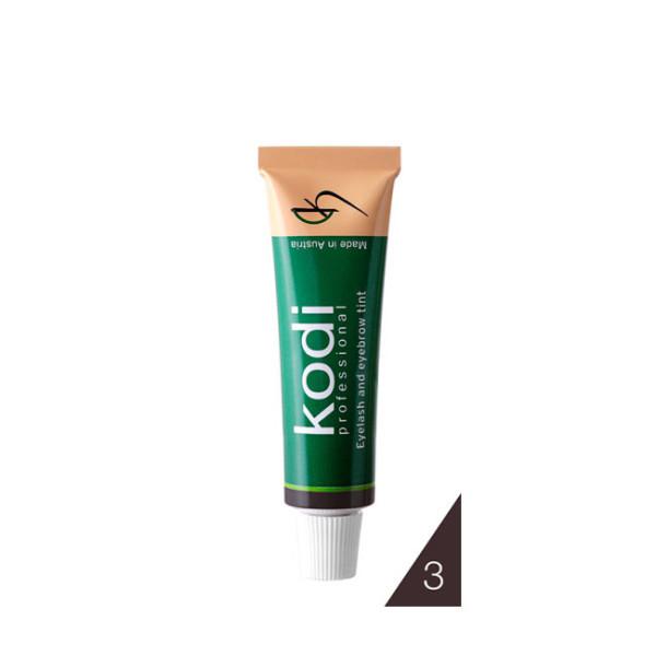 Краска для бровей и ресниц коричневая (15 ml) Kodi