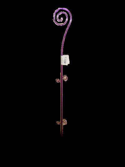 """Опора для выращивания орхидей """"Спираль"""" прозрачная фиолетовая h=64см """"Алеана"""""""