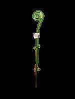 """Опора для выращивания орхидей """"Спираль"""" прозрачная зеленая h=64см """"Алеана"""""""
