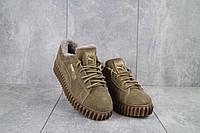 Женские ботинки замшевые зимние бежевые Nev-Men P беж