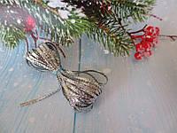 Шнур люрексовый, 3 мм, цвет серебристый, 5 м