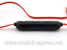 Sports Sound Headset магнитные bluetooth наушники гарнитура с FM MP3, черные с красным, фото 3