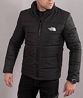 Мужская черная куртка в стиле The North Face без капюшона